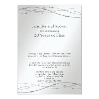 Het Jubileum van het Huwelijk van het Stip 12,7x17,8 Uitnodiging Kaart