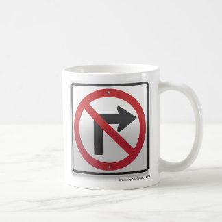 Het juiste Verbod van de Draai Koffiemok