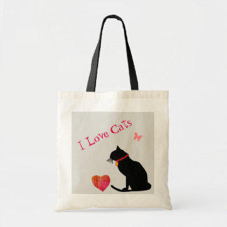 Het jumbo Bolsa van de Katten van de Liefde van I Draagtas