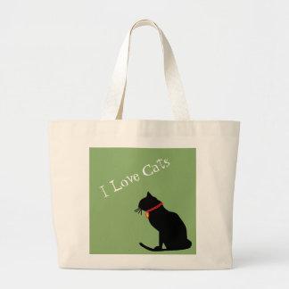 Het jumbo Bolsa van de Katten van de Liefde van I Grote Draagtas