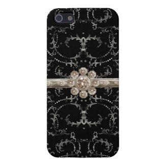 Het juweel kijkt de Zilveren Achthoekige Werveling iPhone 5 Hoesje