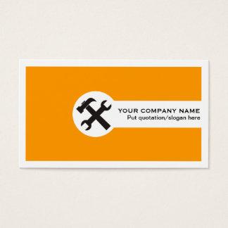 Het kaart-sinaasappel van het bouwvak visitekaartjes