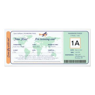 Het Kaartje van de Instapkaart van de Verjaardag 10,2x23,5 Uitnodiging Kaart