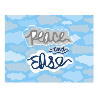 Het Kalmeren van de vrede en van het Gemak Wolken Briefkaart