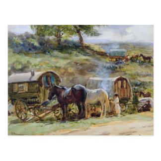 Het Kamp van de zigeuner, Appleby, 1919 Briefkaart