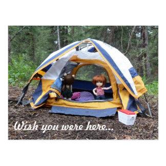 Het kamperen met Miranda Briefkaart