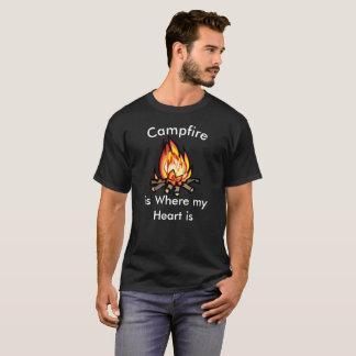Het kampvuur is waar mijn Humoristische T-shirt