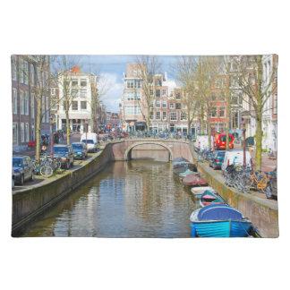 Het Kanaal van Amsterdam met boten Placemat