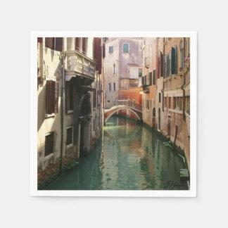 Het Kanaal van Venetië Papieren Servet