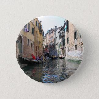 Het kanaal van Venetië Ronde Button 5,7 Cm