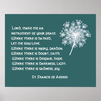 Het Kant St. Francis Assissi Prayer van koningin A Poster