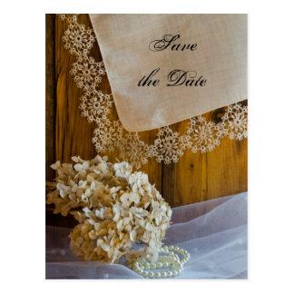 Het Kant van het land bloeit het Huwelijk van de Briefkaart