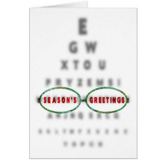 Het Kantoor van de Optometrist van de GROETEN van Briefkaarten 0