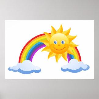 Het Kantoor van de Zon van de regenboog Poster