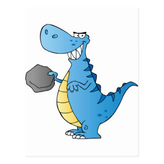 Het Karakter van de Cartoon van de dinosaurus Briefkaart