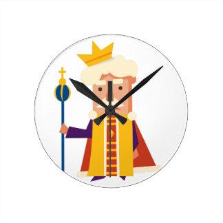 Het karakter van de Cartoon van de koning Ronde Klok