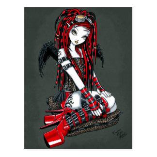 """Het """"karmozijnrode"""" Rode Briefkaart van de Engel"""