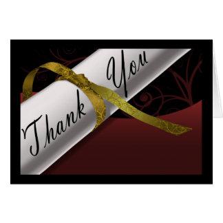 Het kastanjebruine & Gouden Diploma dankt u kaardt Notitiekaart