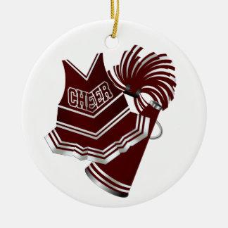 Het Kastanjebruine & Witte Ornament Cheerleader