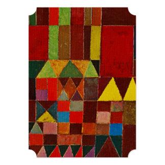 Het Kasteel en de Zon van Paul Klee Custom Uitnodigingen