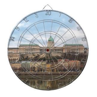 Het Kasteel Hongarije Boedapest van Buda bij dag Dartbord