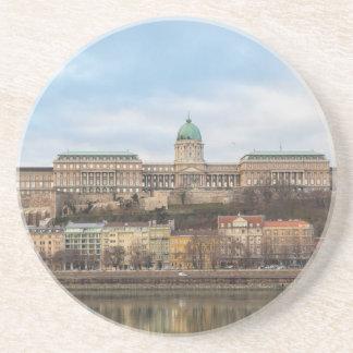 Het Kasteel Hongarije Boedapest van Buda bij dag Zandsteen Onderzetter