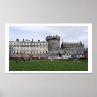 Het Kasteel Ierland van Dublin Poster