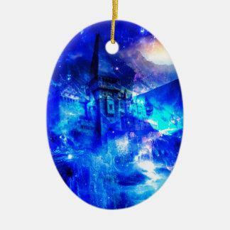 Het Kasteel van Amorem Amisi van de advertentie Keramisch Ovaal Ornament