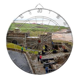 Het Kasteel van Bamburgh, Northumberland, Engeland Dartbord