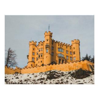 Het kasteel van Beieren Hohenschwangau, Duitsland Flyer 21,6 X 27,9 Cm