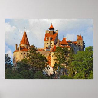 Het kasteel van Dracula, angstaanjagende heuveltop Poster