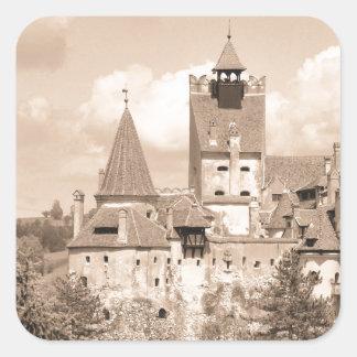 Het Kasteel van Dracula in Transsylvanië, Roemenië Vierkant Sticker