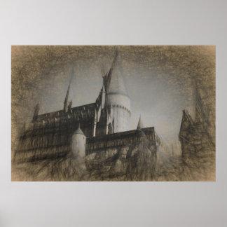 Het Kasteel van het Poster van de schets op de