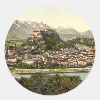 Het Kasteel van Hohensalzburg, Salzburg, Ronde Sticker