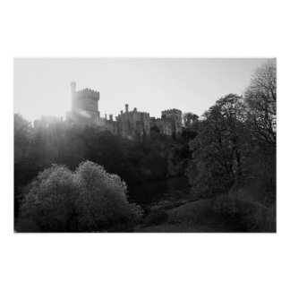 Het kasteel van Lismore over schone blackwater Poster