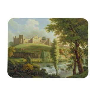 Het Kasteel van Ludlow met Waterkering Dinham, van Magneet