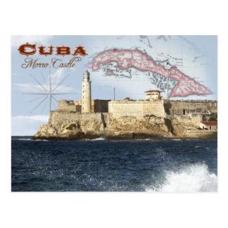 Het Kasteel van Morro (Vesting), Havana, Cuba Briefkaart