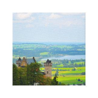 Het Kasteel van Neuschwanstein in Beieren Canvas Afdrukken