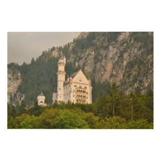 Het Kasteel van Neuschwanstein in Beieren Hout Afdruk