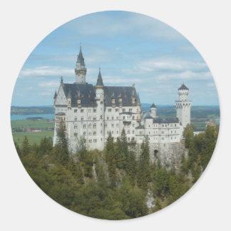 Het Kasteel van Neuschwanstein - Schloss Ronde Sticker