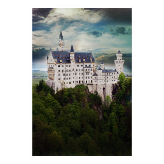 Het Kasteel van Neuschwanstein, Stormachtige Hemel Poster