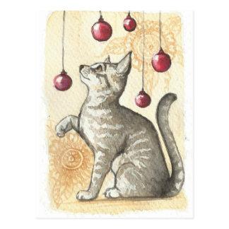 Het Kat van Chirstmas Briefkaart