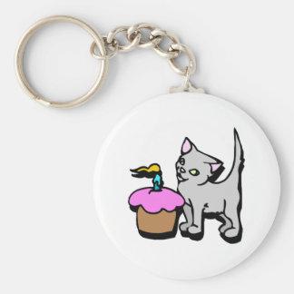 Het Kat van Cupcake Sleutel Hangers