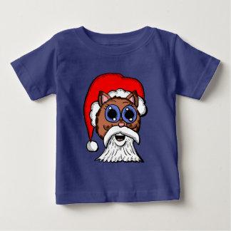 Het Kat van de kerstman Baby T Shirts
