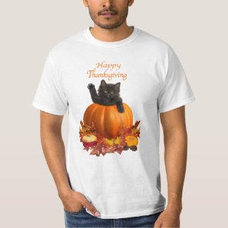 Het Kat van de Thanksgiving T Shirt