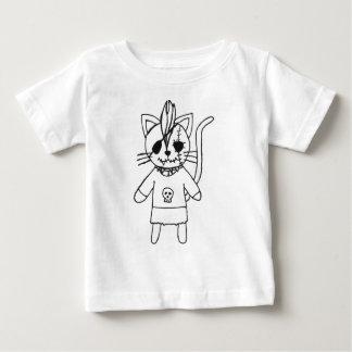 Het kat van de tuimelschakelaar baby t shirts