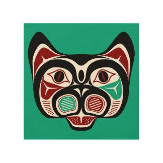 Het Kat van Haida van de Vreedzame kust van het Foto Op Hout