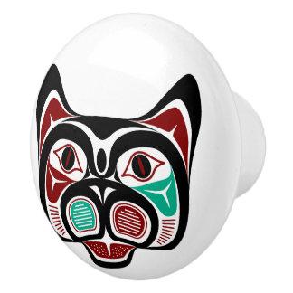 Het Kat van Haida van de Vreedzame kust van het Keramische Knop