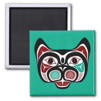 Het Kat van Haida van de Vreedzame kust van het Vierkante Magneet