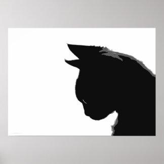 Het Kat van Mitzi: Het zwart-witte Poster van de K